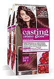 L'Oréal Paris Casting Crème Gloss Coloration Ton Sur Ton Sans Ammoniaque 4.26 Auburn Gourmand - Lot de 2