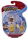 Wicked Cool Toys Pokemon Battle 3 Pack - Wartortle, Pikachu & Cubone