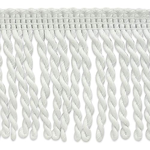 Expo International 10 Yard 3'' Cotton Bullion Fringe Trim, White