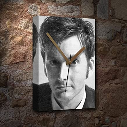 DAVID TENNANT - Canvas Clock (A4 - Signed by the Artist) #js002