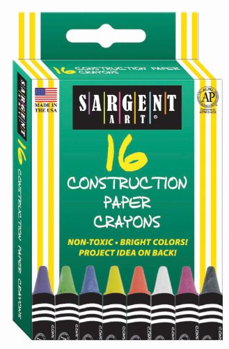 Sargent Art 35-0537 16-Count Construction Paper Crayon