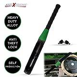 AllExtreme EXCSBLR Heavy Duty Car Steering Wheel Lock Anti-Theft Baseball Security Self Protection Lock with Keys (Random Colour)