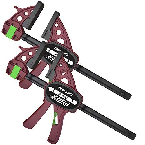 2 x Piher Quick Extra Einhand-Zwinge Schraub-Zwinge 60 cm Schnell Spanner Spreiz Klemme