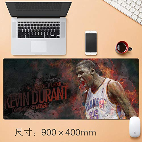 Tappetino per Mouse NBA di Grandi Dimensioni, Basket,Tappetino per Mouse da Gioco Grande 900x400x3 mm, Allungato, Durevole-A_700*300 * 3MM