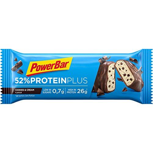 Powerbar – Protein Plus Bar 52% (2018) 1 X 50 G barrette Cookies & Cream (confezione da 6)