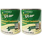 Vinamilk Sweetened Condensed Milk Creamer 13.4 ounce Can Concentrated Sweet Liquid Milk Best for...