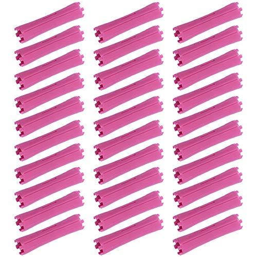 KINLOU 30 Pièces Bigoudis Rouleaux de Cheveux - Magique Cheveux Bricolage Flexible Salon Outils de Coiffure pour Cheveux Longs et Courts