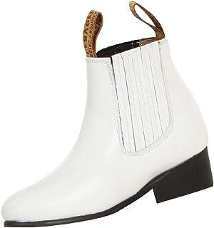 Boys Charro Ankle Leather Boots Mariachi Botas Botin Kids