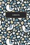 Grecia: Cuaderno de diario de viaje gobernado o diario de viaje: bolsillo de viaje forrado para hombres y mujeres con líneas