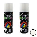 Paintusa - Pack de 2 botes de pintura en spray Blanco Nieve A37 200 ml