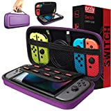 Orzly Carry Case Compatible with Nintendo Switch - Purple Protective Hard Portable Travel Carry Case Shell Pouch for Nintendo Switch Console & Accessories