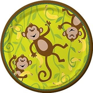 8-Count Round Paper Dessert Plates, Monkeyin' Around