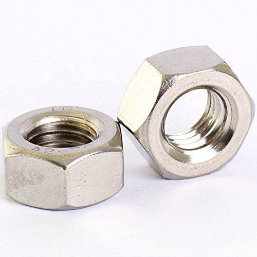 Bolt Base - Sechskant-Mutter mit Feingewinde - 10 mm / M10 x 1,0 mm - A2 Edelstahl - DIN 934 - 10 Stück