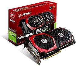MSI Gaming GeForce GTX 1070 Ti 8GB GDRR5 256-bit HDCP Support DirectX 12 SLI Twin Frozr Heat Pipes Dual TORX 2.0 Fan VR Re...