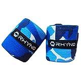 RHYNO(ライノ) リストラップ リストストラップ/トレーニング 筋トレ 手首 の 保護 サポーター / 選べる4色 (ブルー)