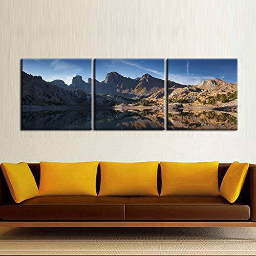 GYSS 3 panelen kunst wanddecoratie voor thuis foto's HD druk bergen zon landschap moderne schilderijen op canvas
