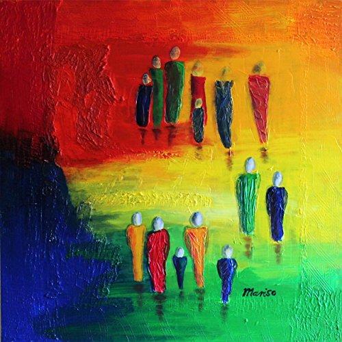 Begegnungen Acrylbild 80 * 80 * 2 cm (c) mariso