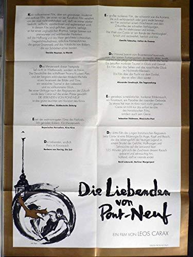 Die Liebenden von Pont-Neuf - Denis Lavant - Filmposter A1 84x60cm gefaltet