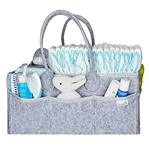 Putska Baby Diaper Caddy Organizer – Gift Registry for Baby Shower, Nursery Organizer, Neutral Baby Gift Basket, Changing Table Organizer (Diaper Caddy)