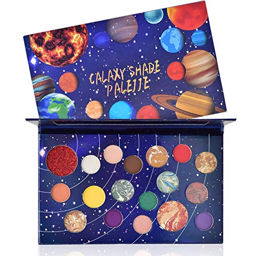 Freeorr 18 Farben Lidschatten Palette Galaxy-Serie, Matte Shimmer Perlglanz Lidschatten Palette...