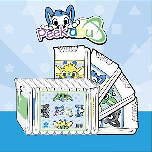 ABU PeekABU Diapers Windeln - Packung mit 10 (Medium)