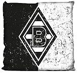 Borussia Mönchengladbach Kissen Schwarz-Weiss