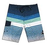 LINSID Pocket Quick Dry Badeshorts für Männer Badebekleidung Man Badeanzug Badehose Summer Bathing Beach Wear Surf Blue