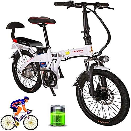 Bicicletas Eléctricas, Bicicleta de montaña eléctrica plegable for adultos de 20' doble freno de disco de bicicletas eléctricas asiento ajustable LCD del medidor - 48V 12Ah 250W suspensión completa de