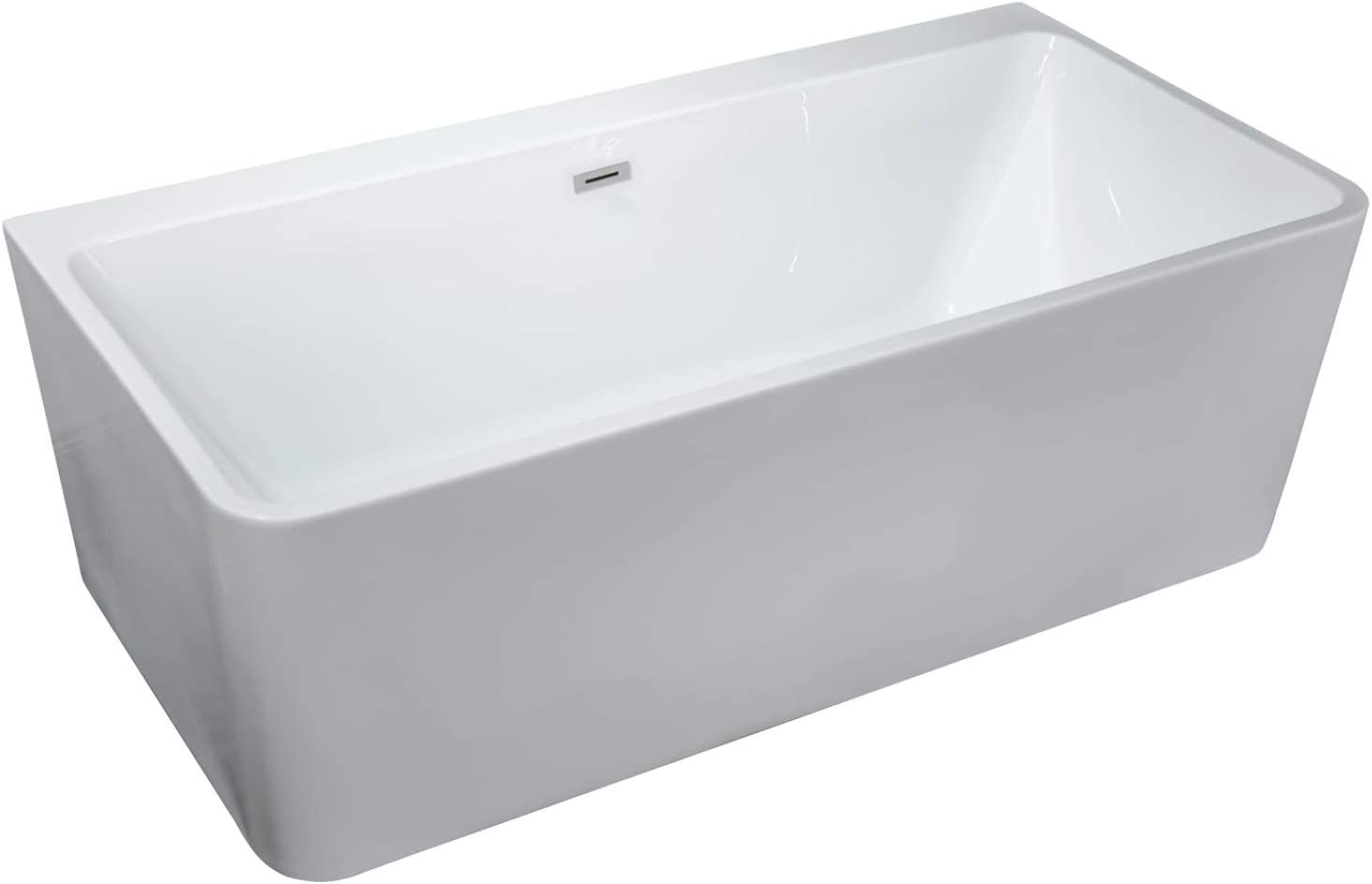 Super intense Challenge the lowest price of Japan SALE Freestanding White Acrylic Modern Bathtub