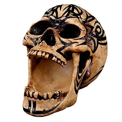 ALBB Levensgrote hars Halloween schedel hoofd - Realistische menselijke schedel Model Replica - voor Anatomische Tracering, Medische Training, Halloween Party, Home Bar Table Decor