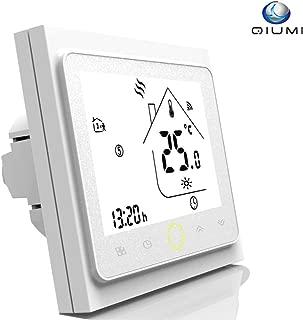 Qiumi Termostato Wifi para calefacción individual de calderas de gas/agua funciona con Amazon Alexa, Google Home IFTTT, Contacto seco, 5A 220V AC