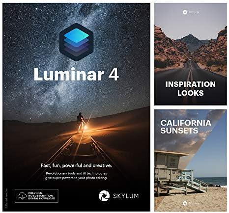 Luminar 4 Bundle Innovative AI Software Inspiration Looks California Sunsets by Skylum PC Mac product image