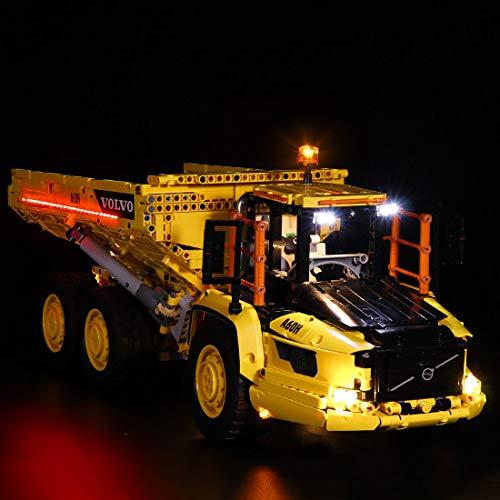 Foxcm LED Licht-Set für LEGO Technik Articulated Hauler 42114, Beleuchtung Lichtset Kompatibel mit LEGO Technic...