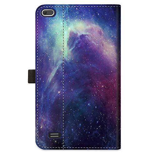 Fintie Schutzhülle für Vankyo MatrixPad Z1 / MatrixPad S7 17,8 cm (7 Zoll) Tablet – [freihändig] Multi-Winkel Betrachtung Folio Smart Stand Cover mit Tasche Stifthalter (Galaxy)