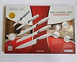 Royalty Line - RL-CB5 - Juego de Cuchillos de Cocina, de Antiadherente, 5 Cuchillos y Pelador,