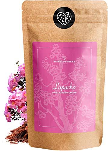 Lapacho Tee - 100% innere Lapacho Rinde - Premium Tee-Qualität - pau d'arco - naturbelassen aus kontrolliertem Anbau - per Hand geprüft und abgefüllt in Deutschland | 80DEGREES (1000g)