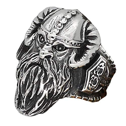 Uomini Nordic Viking Anello Vintage Anello Odino Amuleto Anelli Gioielli Amuleto Fatti A Mano Acciaio Inox Punk Cool Band Banda Biker Anelli Celtici-11