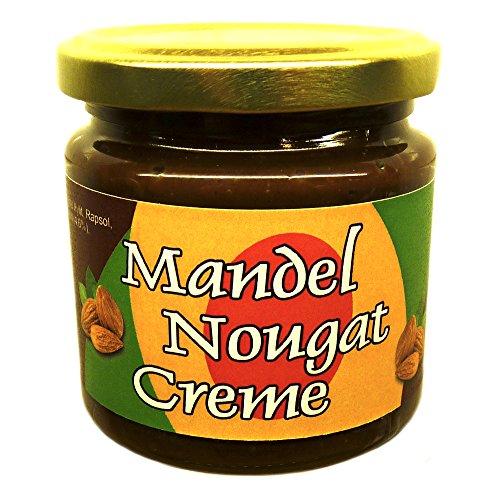 Mandel-Nougat-Creme 200 g (43,7% Mandeln), mit Xylit aus Finnland gesüßt, vegan, ohne Zuckerzusatz