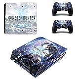 46 North Design Playstation 4 PS4 Pro Folie Skin Sticker Konsole Monster aus Vinyl-Folie Aufkleber Und 2 x Controller folie