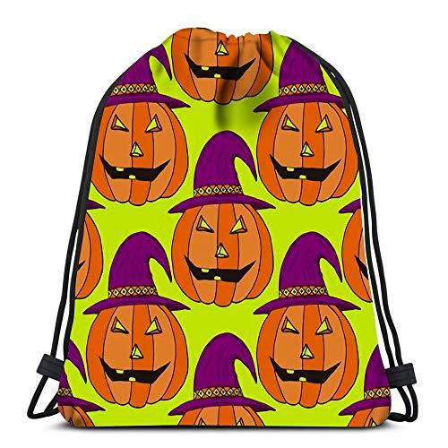 Kordelzug Rucksack Jack Laterne Kürbis Halloween als Geschenkpapier für Schule oder Reisen
