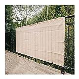 Gdmokle Paño De Sombra, Exterior Jardín Color Crema Toldo De Patio, Más Grueso Valla Protección De La Privacidad, Luz De Cubierta Durable, Personalizable (Color : A, Size : 4x5m)