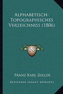 Alphabetisch-Topographisches Verzeichniss (1806)