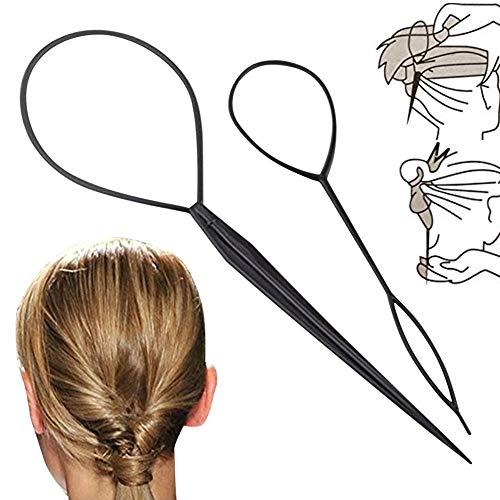 2 Pcs Cheveux Styers Styling Coiffure Accessoires Cheveux Pull Aiguille Plat Tresse Queue De Cheval Machine À Outil De Tressage
