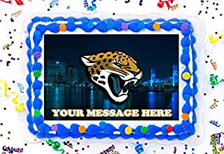 Jacksonville Jaguars Cake Topper Edible Image Personalized Cupcakes Frosting Sugar Sheet (8