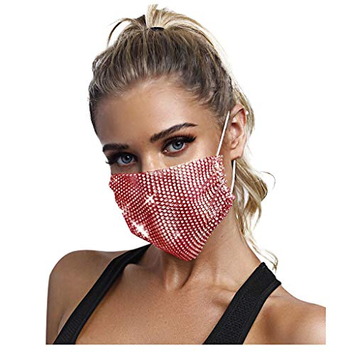 face mask for women ATRISE Multicolor Diamond Reusable Face Mask,Nose Mouth Adjustable Anti-Dust Mouth Mask for Women Beauty Mask