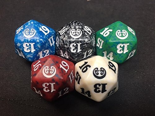 MTG Kaladesh Bundle (Fat Pack) D20 Set of 5 Spindown Life Counter Dice by Magic: the Gathering