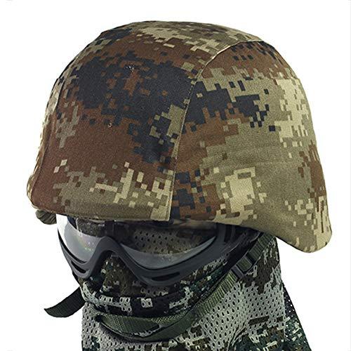 WLXW M88 Taktischer Helm Und Helmüberzug, Paintball-Kopfschutz Für Luftgewehre, Versteckter Jagdhelm Im Tarnungsdschungel,B
