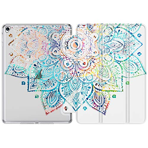 iPad 9.7 Case (2018/2017),iPad Air 2 Case, iPad Air Case with Flower Floral Designs for Kids Girls Women,Slim Fit Smart Stand Cover for Apple iPad 5th/6th Gen,iPad Air1/Air2[Auto Sleep/Wake]-05