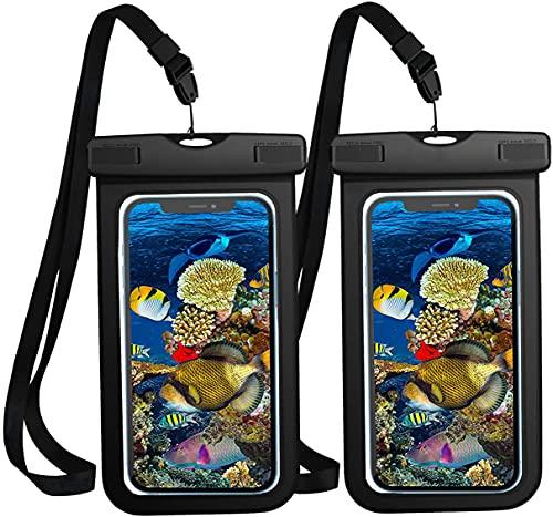 wasserdichte Handyhülle Unterwasser - 2 Stück 7 Zoll DOPPELT VERSIEGELT Wasserdicht Handy Hülle Handytasche Kompatibel mit iPhone, Samsung, Nexus und mehr, Super Hülle für den Strand und Wassersport