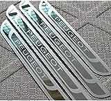 bksptop 4 piezas de acero inoxidable umbrales de puerta para Peugeot 308 408 508 3008 2008 307, umbral de la puerta placas protector car styling Accesorios